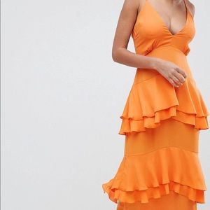 Strappy Tiered Maxi Dress